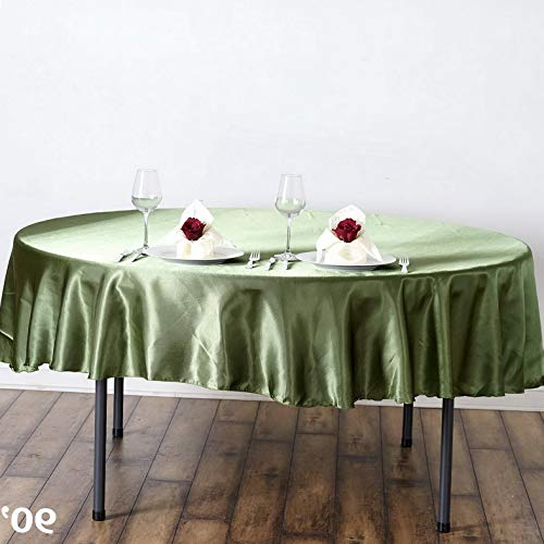 Mikash 15 pcs 90 Satin Round Tablecloths Wedding Table Linens Decorations Wholesale | Model WDDNGDCRTN - 19200 | -