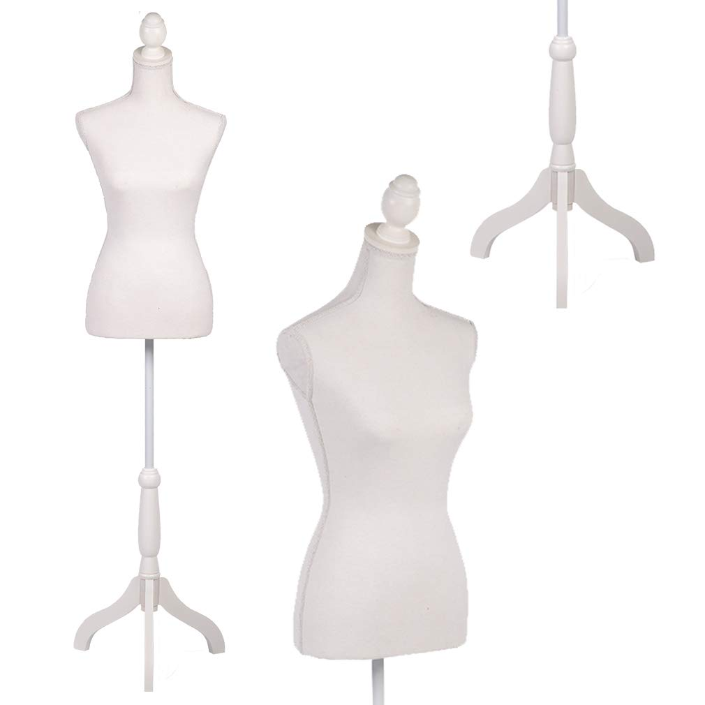 BestMassage Female Mannequin Torso Clothing Display W/Tripod Wooden Base