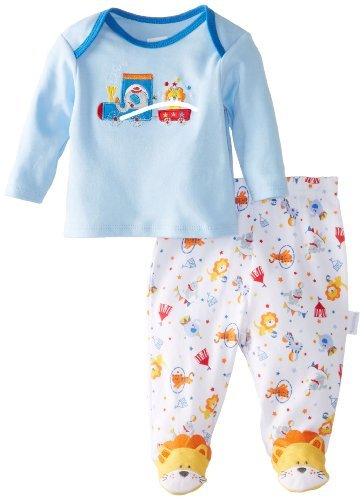 Vitaminas para bebés Baby-Chicos nacidos circo Amigos 2 Paquete Conjunto de pijama, Azul
