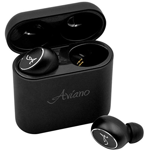 Bluetooth Earbuds 5.0, AVIANO A90 Wireless Earphones (True HD Sound) with Microphone – Latest Bluetooth 5.0 Cordless Headphones | Long Lasting Earbuds | Stereo Quality Ear Buds with Charging Case