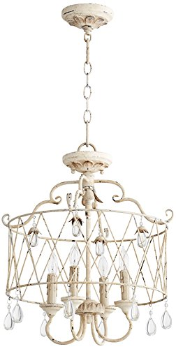 Quorum International 2844-4-70 Venice 4 Light Dual Mount, Persian White