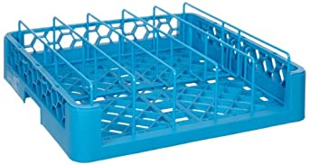 """Carlisle RFP14 OptiClean Polypropylene Food Pan/Insulated Meal Delivery Tray Rack, Open End, 19.75 x 19.75 x 4"""", Carlisle Blue (Case of 3)"""