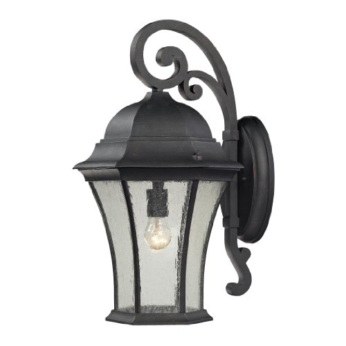 picture of Elk Lighting 450521 Wellington Park 1 Light Outdoor Wall Mount In Weathered Charcoal 450521