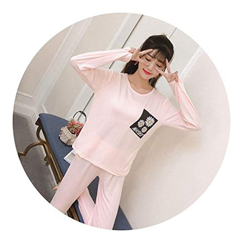 pursuit-of-self-Sleepwear Dress Womens Pajamas Sets Long Sleeve Suit Pajamas Women Summer Cartoon Pajamas Sets,GUI maybeejuhua Pink,M]()