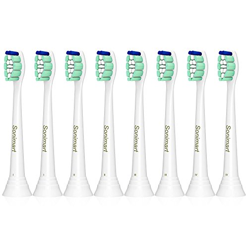 Sonimart Replacement Toothbrush Heads for Philips Sonicare ProResults Plaque Control HX9024, 8 pack, fits 2 Series Plaque Control, 3 Series Gum Health, DiamondClean, FlexCare, HealthyWhite, EasyClean