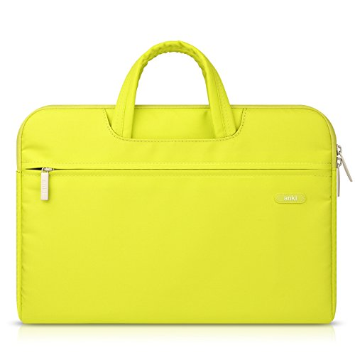 lidch 11.6 – Hombres y Mujeres de portátiles de 15.6, Bolsa, Case Cover Sleeve para Macbook Air/MacBook Pro, portátil funda de transporte brifcase bolso para Asus, Dell, iPhone (4 colores) Rose Red 11 Lemon Yellow