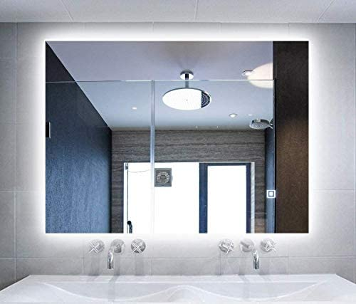 Hans Alice LED Lighted Rectangular Wall Mounted Mirror 36″x28″