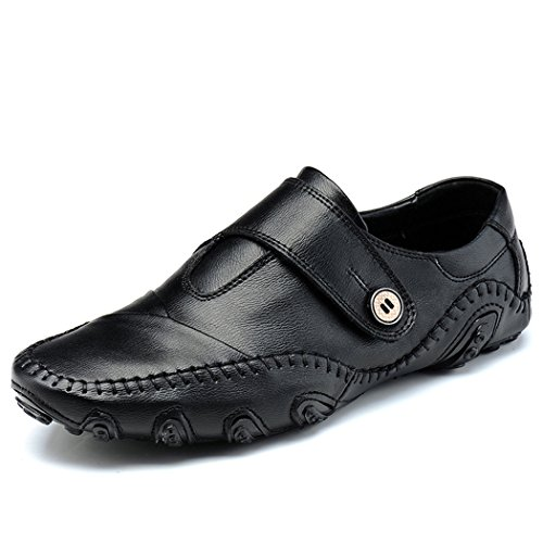 Slip Genuine On Leather Loafers Driving Men Casual Sun Lorence Business Black Shoes w6gqpqS