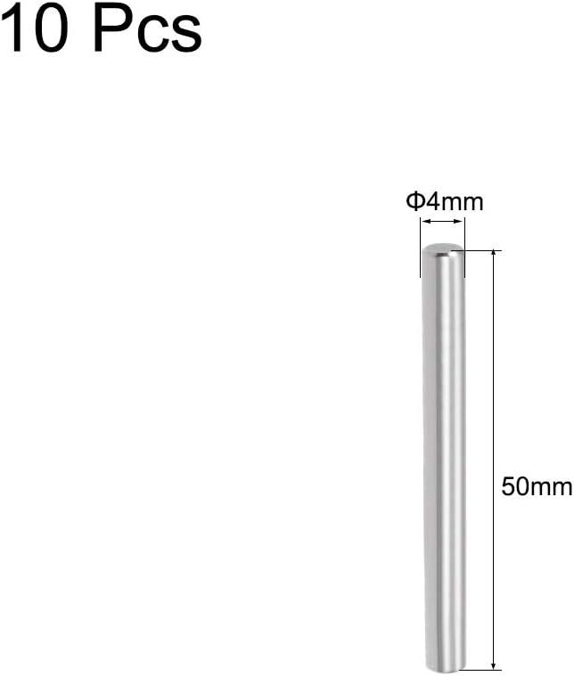 sourcing map 10Pcs 4mm x 50mm Goupille 304 Acier INOX /Étag/ère Support Broche Elements
