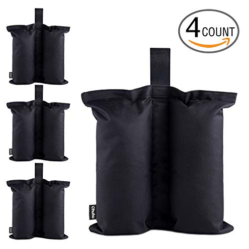 Ohuhu Canopy Weight Bags for Pop up Canopy Tent, Sand Bags Leg Weights for Instant Outdoor Sun Shelter Canopy Legs, 4-Pack (Bags Only, Sand Not Included)