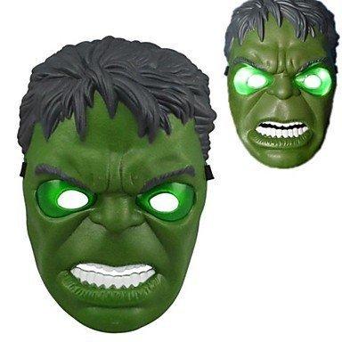 HLLWN Expresss, Hulk LED Light Up Halloween Mask 2014 HLWMSK72 (Batman Halloween Makeup Mask)
