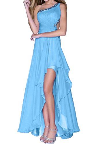 Chiffon Festkleid Damen Steine Modern Abendkleid Ivydressing Promkleid Rueckenfrei Lo Hi Partykleid Hellblau zYc6wB