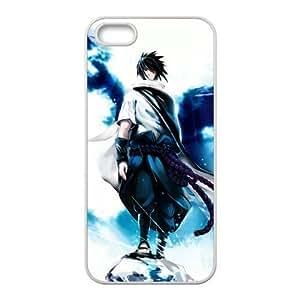 Custom Cartoon Naruto Sasuke Uchiha Apple Iphone 5 and 5s Hard Case Cover phone Cases Covers