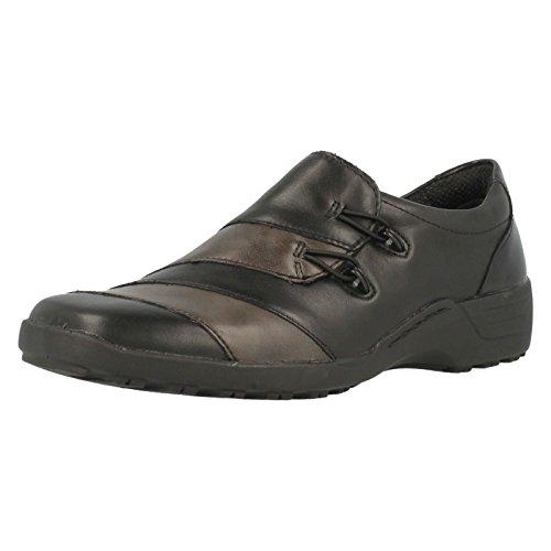 Leather Schwarz H schwarz Shoe In D0525 Women's Noir Slip graphit Remonte On Casual Weite 10qHwSp