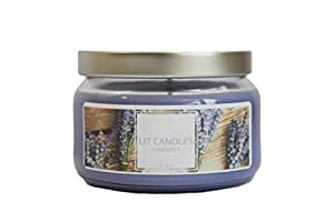 LIT CANDLES Hand Poured 8-10 Ounce Artisan Soy Wax Candle in Clear Jar, High Grade Fragrance Oil; 100% Soy wax from the U.S., Long Lasting Scents - Lavender, Fig, Pumpkin Spice Latte & Hazelnut Latte