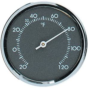 Gray with Chrome Bezel Analog Thermometer and Hygrometer Humidity Gauge Set