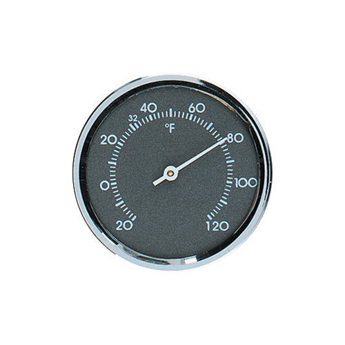 Diameter Bezels (Analog Thermometer 1.75 in. Diameter Round with Gray Scale and Chrome Bezel)