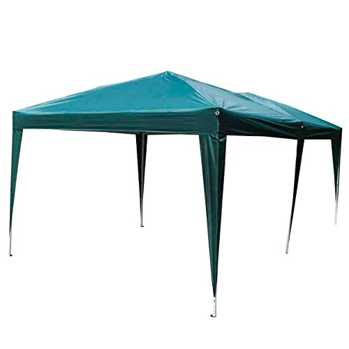 Giantex 10'x20' Ez POP up Wedding Party Tent Folding Gazebo Beach Canopy W/carry Bag (Green)