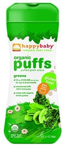Happy Bites Greens Puffs Og2 2.1 Oz by HAPPYBABY