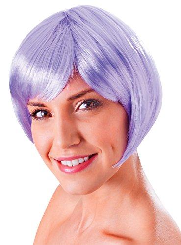Bristol Novelty BW866 Flirty Flick Wig, Lilac, One - Flick Wig