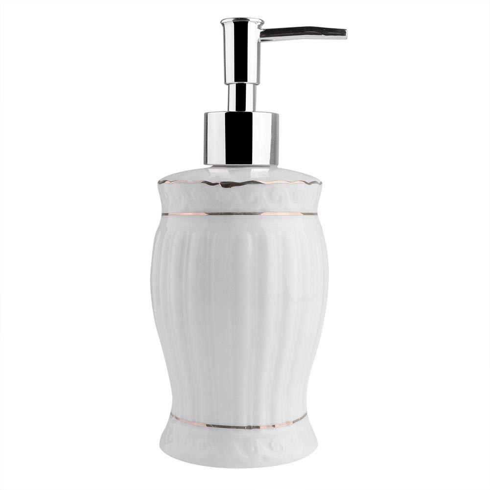 portaspazzolino in Stile Europeo Bianco Dispenser per Sapone e Bicchiere Zoternen 5 Pezzi Set di Accessori per Bagno in Ceramica Include portasapone
