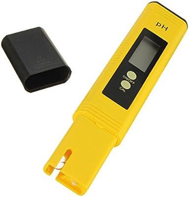 SGerste - Medidor de pH digital portátil para acuario, piscina, agua, vino, orina, LCD: Amazon.es: Industria, empresas y ciencia