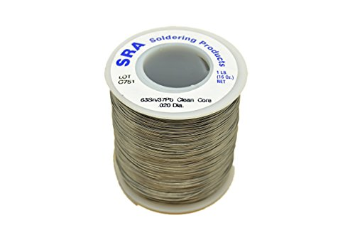 (SRA Soldering Products WBCC633720   No-Clean Flux Core Solder, 63/37 .020-Inch, 1-Pound)
