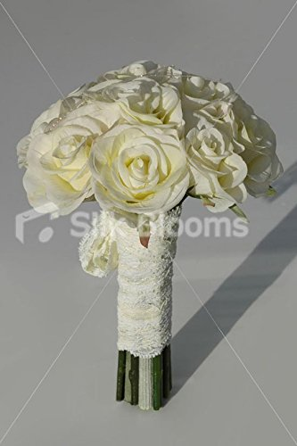 Semplice Avorio Wedding Stile Vintage Blooms Rosa Damigella Silk Bouquet Ltd SEq1wna