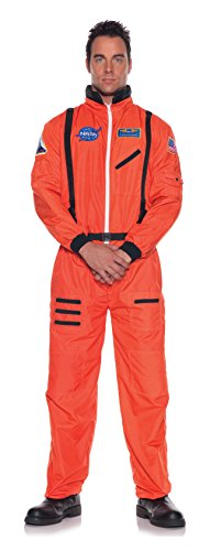 Orange Astronaut Jumpsuit Adult Mens Costumes (Men's Astronaut Costume - Orange)