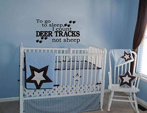 (to Go to Sleep I Count Deer Tracks Not Sheep Hunting Home Wall Decals Decor Vinyl Sticker)