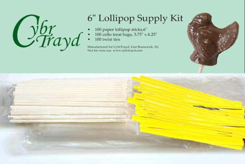Cybrtrayd 6StK100E 100 6-Inch Easter Lollipop Stick Bundle w