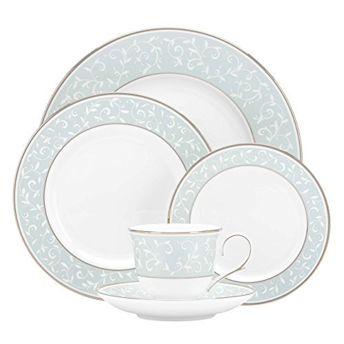 Lenox 5-Piece Opal Innocence Blue Plate Setting, White