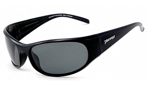 Black Smoke Flash Mirror Lens - Peppers Sunglasses - Hovercraft / Frame: Shiny Black Lens: Polarized Smoke with Flash Mirror