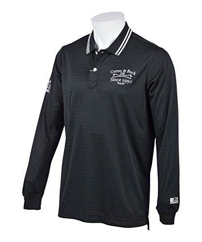 カッター&バック メンズ ゴルフウェア ポロシャツ 長袖 袖下メッシュ長袖シャツ CGMLJB00 BK00 LL