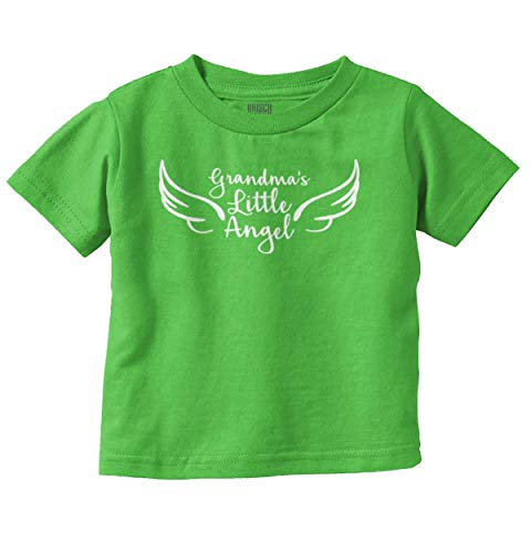 Brisco Brands Grandmas Little Angel Cute Grandchild Infant Toddler T Shirt Angel Wings Baby Tee