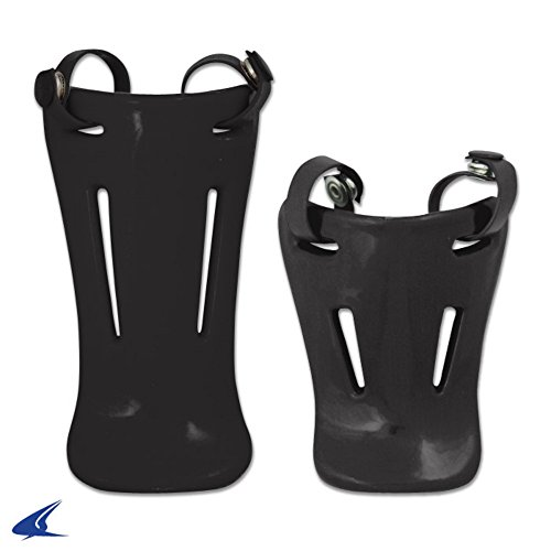 Softball Throat Guards (Blackouttees Champro CM06 Throat Guards For headgear Facemask Throat Guards Black 45 inches)