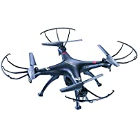 Aerodrone Wireless Indoor/Outdoor Wifi RC Quadcopter Drone with Camera and LED lights, 4 Channel, 6-Axis by Tech Toyz
