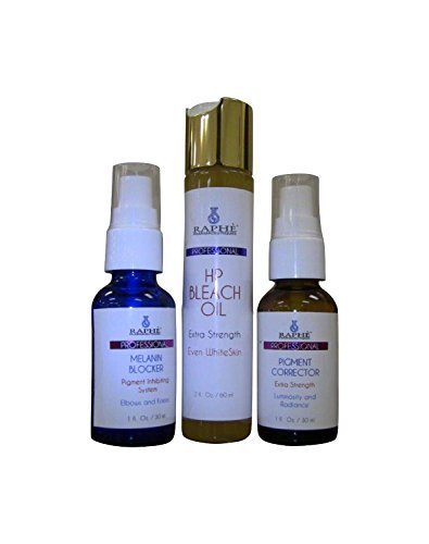 Natural Pigment Correcting Gel 30ml + Melanin Blocker Serum 30ml Each & High Potency Bleaching Oil 60ml.