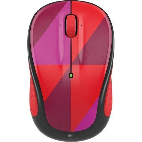 Logitech - M325c Wireless Optical Mouse - Red Harlequin