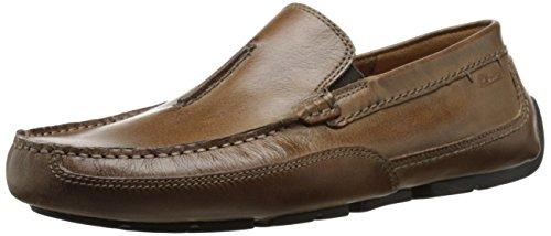 CLARKS Men's Ashmont Race Driving Style Loafer, tan Leather, 100 M US