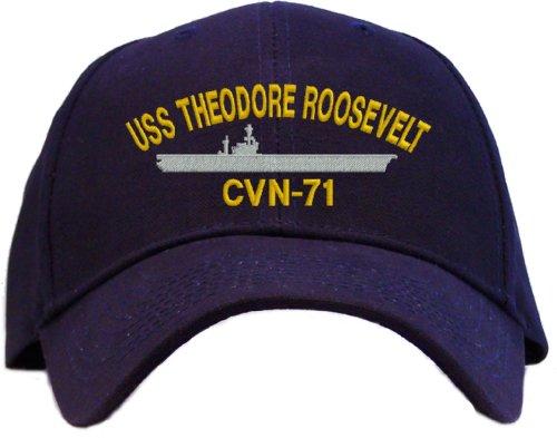 (USS Theodore Roosevelt CVN-71 Embroidered Baseball Cap - Navy)