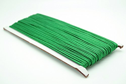 (GREEN 3mm Polyester Soutache Braid Cord String Beading Sewing Quilting Trimming - 30 Yards)