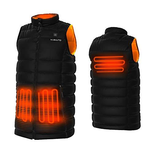 Heated Vest for Men, WLSAUTO Lightweight Heated Vest Size Adjustable with Battery Pack 7.4V Warm Vest