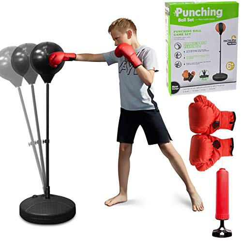 HandSonic Boxing Punching Bag – Boxing Punching Bag with Stand for Kids – Adjustable Stand with Stronger Spring and…