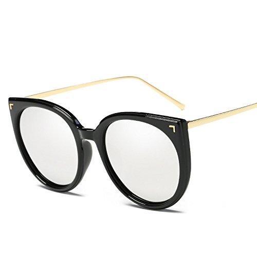 Gafas Trend Sol Vintage Polarizado Unisex Moda De Gafas Sol Redondo Medio Marco Protección E De Pareja De Mujeres Solar Gafas Irregular Sol Sol UV De De Gafas Conducción D Gafas Polarizador Protección aq4vzwI