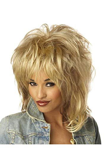 Forum Novelties Women's 80's To The Maxx Rocking Queen Costume Wig, White Blond, One Size]()