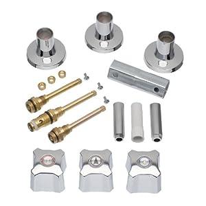 DANCO Tub and Shower 3-Handle Remodeling Trim Kit for Kohler Trend, 3-Handle, Chrome, 1-Kit (39672)