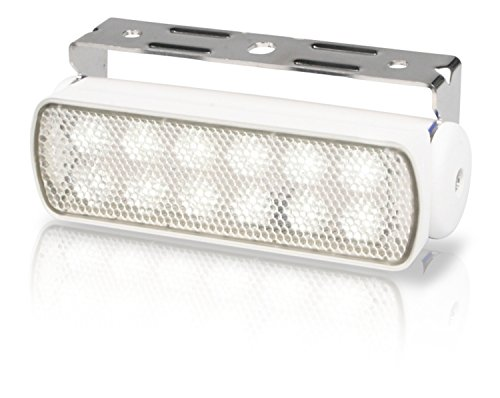 HELLA 980670311 '0670 Series' Multivolt 9-33V DC Sea Hawk LED Deck Light with Spread Beam Floodlight Pattern and White…