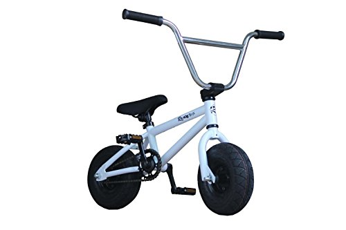 R4 Complete Pro Mini Bmx Bike Bicycle Trick Jump Freestyle With Pegs, White, USA
