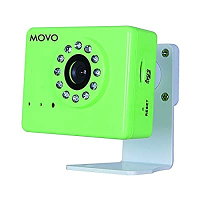 Movo NT3000 Wi-Fi Enabled IP Network Camera with Motion/Audio Detection & Day/Night Infrared (Green)